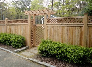 unique privacy fence ideas | ... Privacy Fence Installed in East Hampton, NY 11937 traditional-fencing