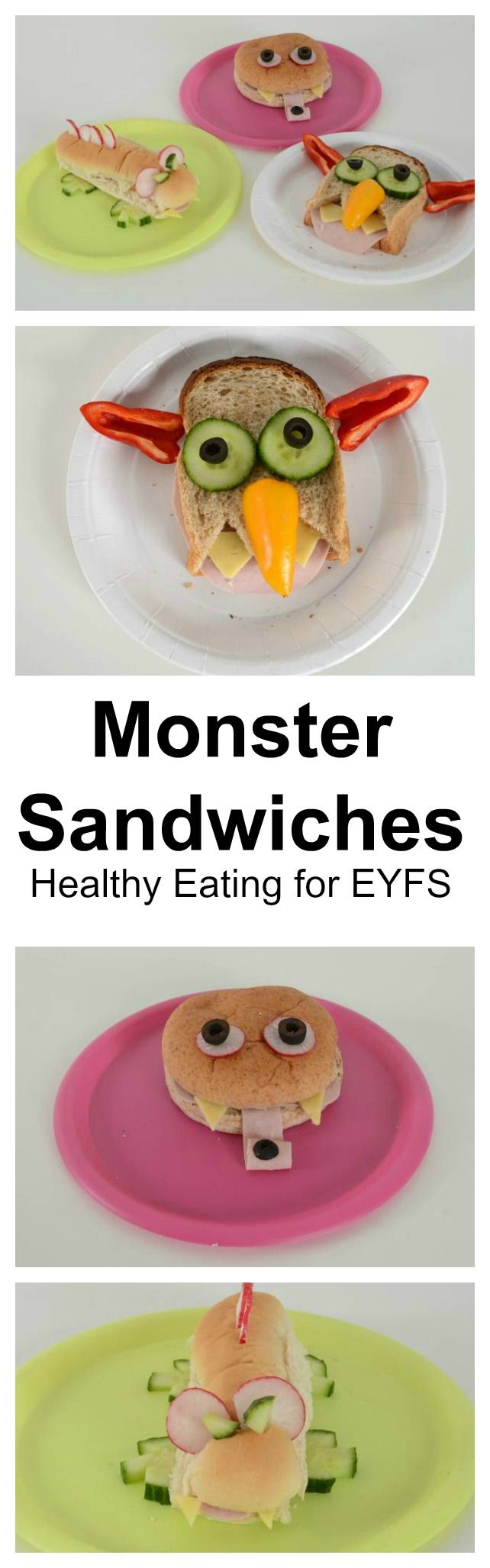 #LearningIsFun Monster sandwiches a healthy eating activity for EYFS