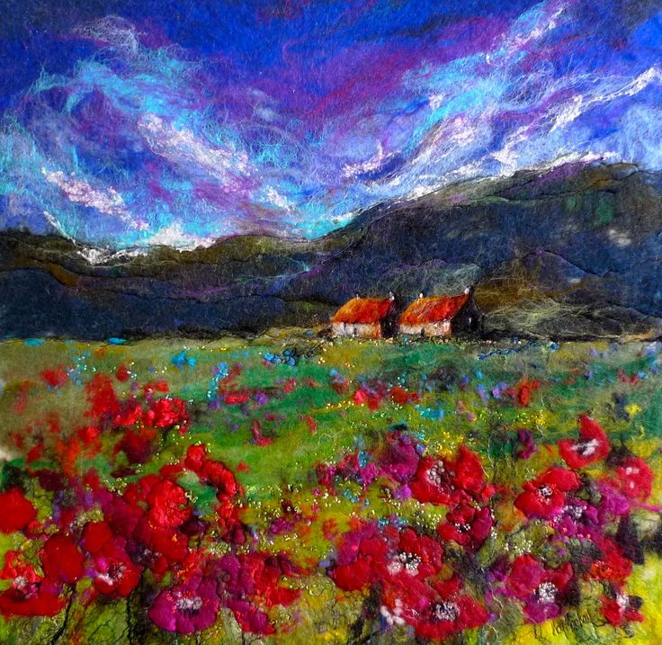 Moy Mackay, artist in felt. More