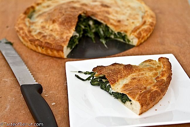 Spinach and mozzarella pie (Tiella di spinaci)