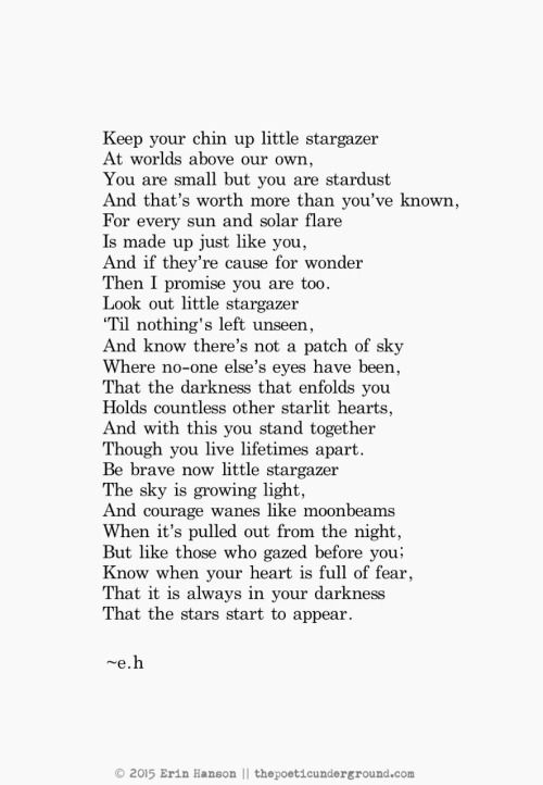 Little Stargazer. thepoeticunderground.com #poem #poetry