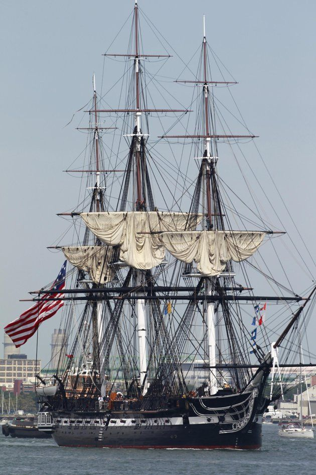 The USS Constitution in Boston Harbor Sunday, Aug. 19, 2012. The USS Constitution, the U.S. Navy's oldest commissioned war ship