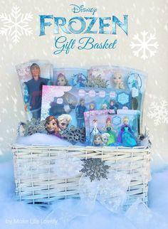 DIY Disney FROZEN Gift Basket #FrozenFun #shop #cbias Doing this for the girls!!