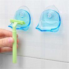 1 Unids Clear Blue Plastic Súper Ventosa Baño Estante Ventosa Titular de Afeitar máquina de Afeitar de Afeitar 2015 envío libre caliente(China (Mainland))