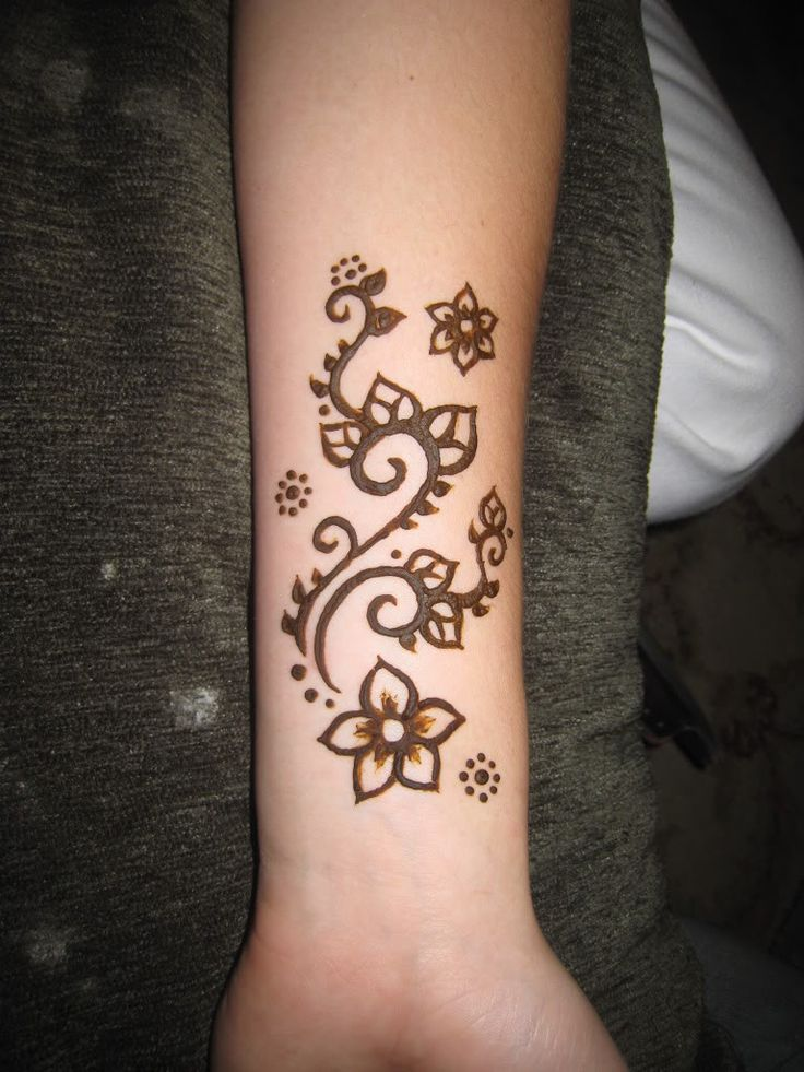 Easy Henna Tattoo Forearm