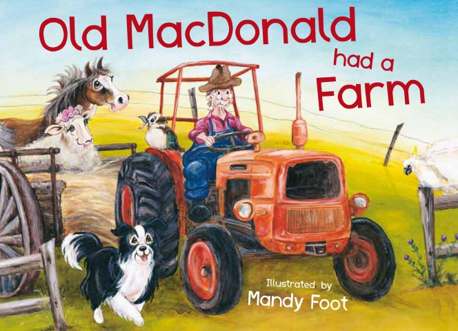 Brought to life by Mandy Foot's delightful illustrations, this wonderful picture book is full of noisy fun. Children will delight in reading along as we discover which animals Old MacDonald had on his farm – including a kangaroo and an emu!     For free music and other fun downloads visit www.oldmacdonaldsfarm.com.au