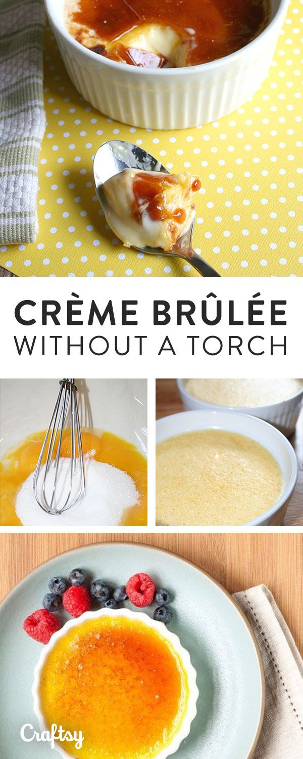 "Attain champion cook status at your next party when you whip up this restaurant-worthy crème brûlée recipe — no special equipment required. The smooth, creamy, vanilla custard's crisp, caramelized top that cracks perfectly when your spoon makes contact will have all your guests saying ""ooh la la!"""