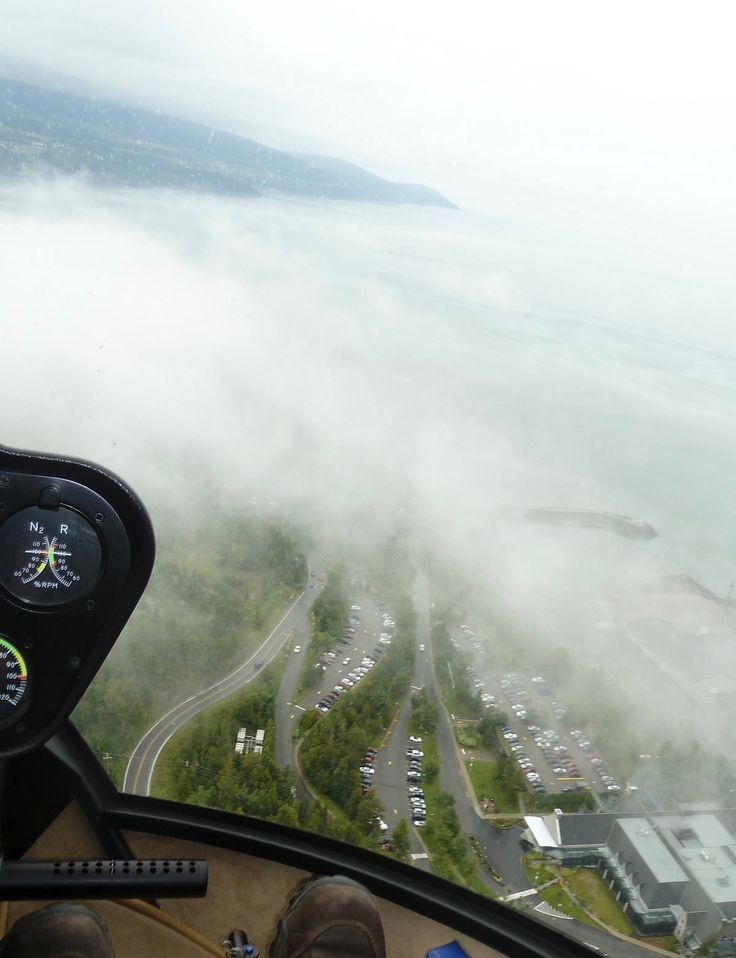 Mist over the shores of the Saint-Lawrence River