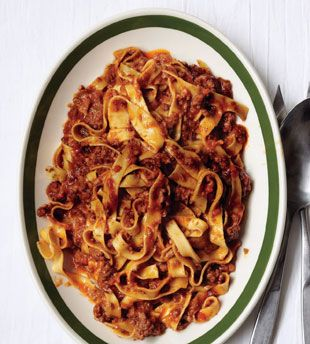 Classic Ragù Bolognese  A certain magic happens as the beef and aromatic vegetables slowly cook down with wine, tomato paste, and broth.