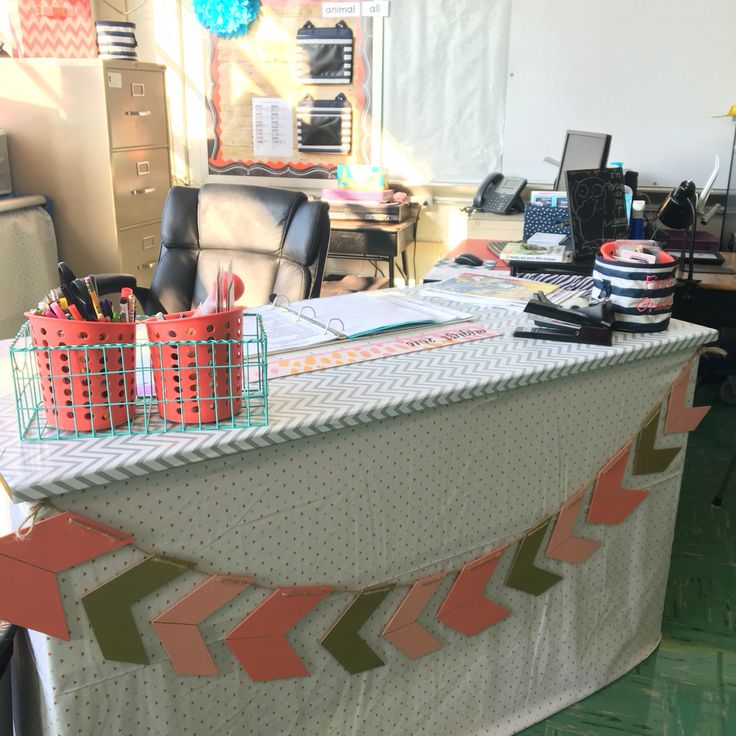 Teacher Desk  Boho/Tribal Classroom   Find classroom decor to go with my desk on my TPT store - Shannon Dee Designs