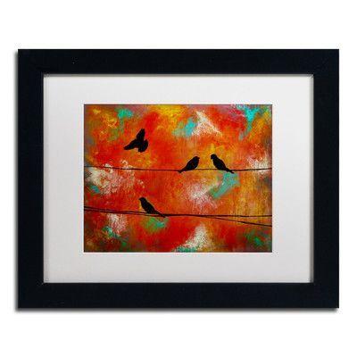 Trademark Art 'Birds of Flight' by Nicole Dietz Framed Painting Print