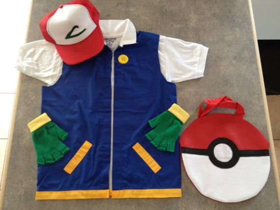 RESERVED  3T   POKEMON Costume Ash Ketchum Cosplay  4 pc.