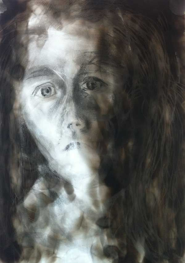 """""""Aster Self Portrait"""" by Melanie Meyer from her Emergence Art Gallery in Cape Town"""