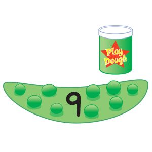 Playdough Pea Pod Counting Center (from The Mailbox):