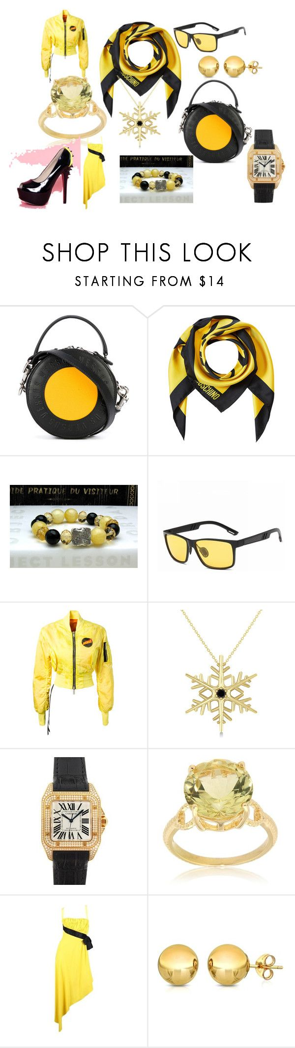 """BEE BUSINESS"" by marguerite-dillworth on Polyvore featuring Versus, Moschino, Unravel, Allurez, Cartier, Pearlz Ocean, Chanel and Pori"