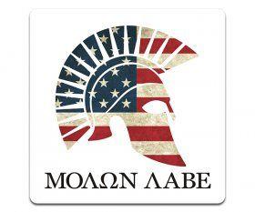 Molon Labe Spartan Helmet American Flag
