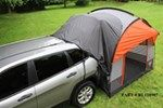 A Rightline SUV tent is an economical alternative to a camper. It connects to your vehicle to add more living and sleeping space for camping. The alligator clamp allows easy removal of the tent when you want to use your SUV. Sleeps up to 4 adults. .  Lowest Prices for the best truck bed tents from Rightline Gear. Rightline Gear SUV Tent with Rainfly - Waterproof - Sleeps 4 part number RL110907 can be ordered online at etrailer.com or call 800-298-8924 for expert service.