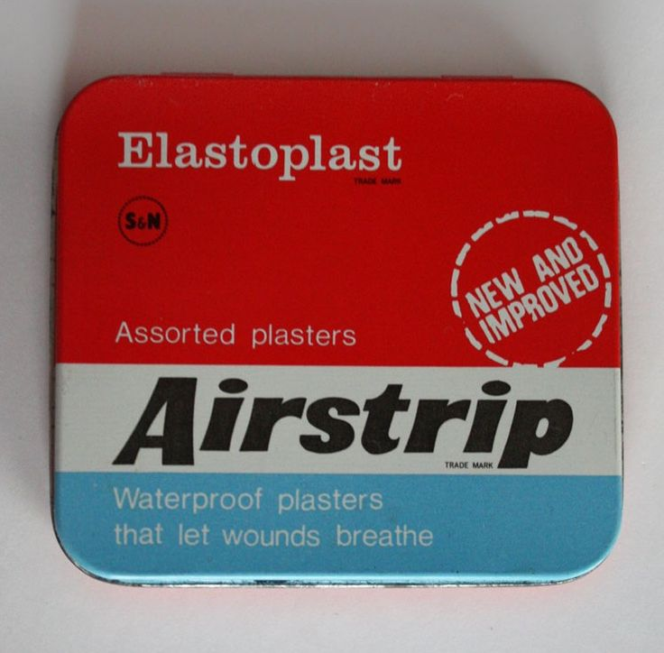 1970s Elastoplast Airstrip Plasters In Tin - permanent fixture on my knees...