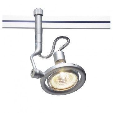 LIKA Lampenkopf für LINUX LIGHT, silbergrau / LED24-LED Shop