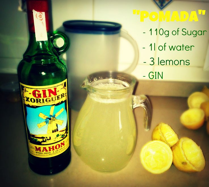 POMADA: Typical Drink of Menorca (Balearic Islands - Spain)  Reception drinks!
