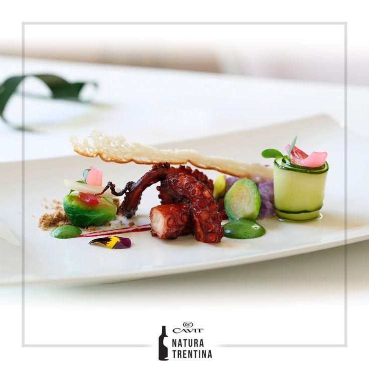 """Una #ricetta da non perdere firmata dallo chef Martin Vitaloni, pronti a cimentarvi con il """"#Polpo cotto piano piano, #acciughe in polvere, purè violetto e croccante al pane""""?"""