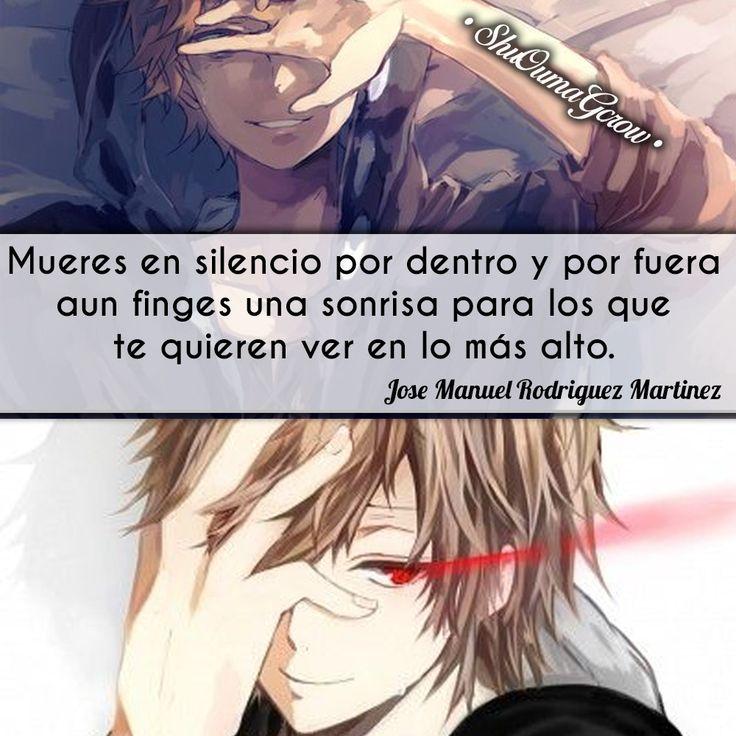 Mueres en silencio. #ShuOumaGcrow #Anime #Frases_anime #frases