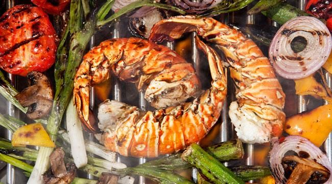 Grilled Lobster Salad Recipe with Chive-Yogurt Dressing | Recipe