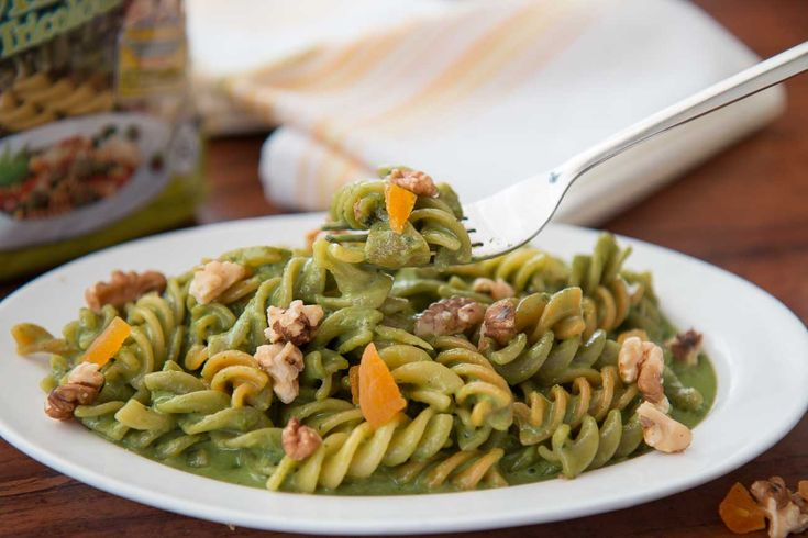 Tricolor Rotini (Spirali) Pasta Recipe Tossed in Creamy Basil Sauce - Kids Recipes Made With Del Monte