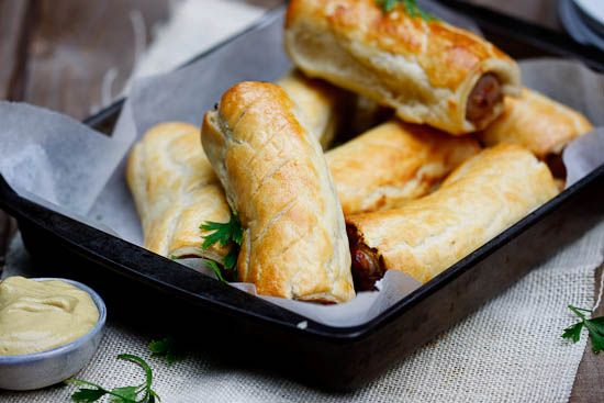 sausage rolls + truffled mustard: Favourite Food, Pork Sausages, Sausage Rolls, Puff Pastries, Comfort Food, Herby Pork