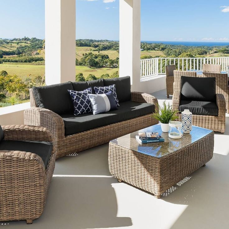 Take your outdoor area to the next level with our Vivian 4 piece outdoor lounge setting. On sale now for $1799.