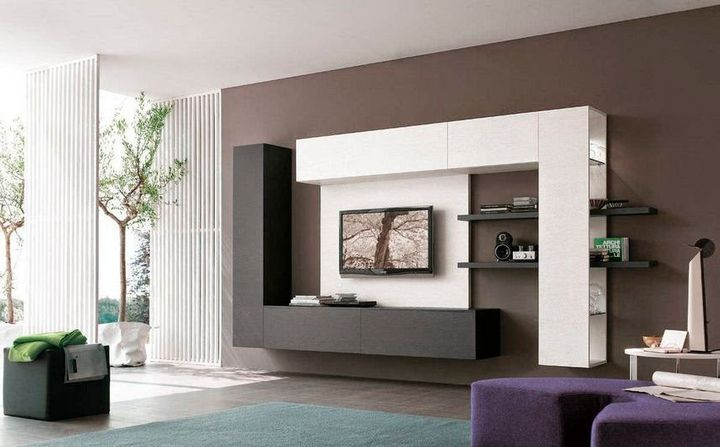 A Perfect Storage Solution Rych L Shaped Media Unit By Inkgrid Is A Tv Cabinet To Modernise The Loo Wall Tv Unit Design Wall Unit Designs Modern Tv Wall Units