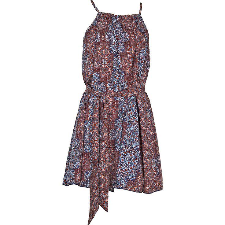 Achilleas Accessories - Προϊόντα : Collection | SS 2017 / Ρούχα / Φορέματα & Πουκαμίσες / Φόρεμα μίνι με γεωμετρικά σχέδια, άνοιγμα στην πλάτη και ζωνούλα.