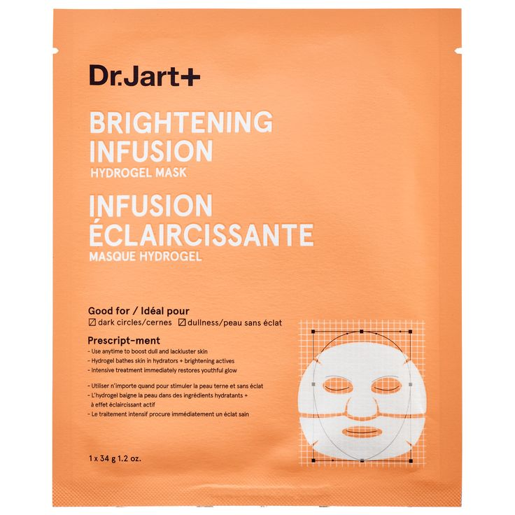 What it is:A gel-textured sheet mask designed to maximize absorption of active ingredients and brighten skin.   What it is formulated to do:Brightening Infusion Hydrogel Mask moisturizes and brightens while improving complexion and skin texture. Gr
