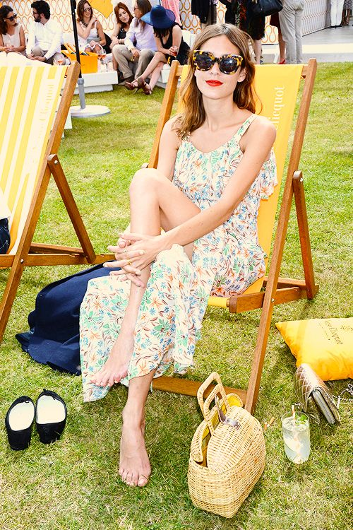 Alexa Chung attends the Veuve Clicquot Gold Cup final at Cowdray Park Polo club on July 20, 2014 in Midhurst, England.