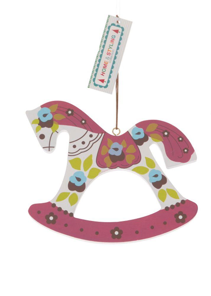 Wooden Christmas ornaments. Wooden Horse. Διακοσμητικό Χριστουγεννιάτικο ξύλινο στολίδι, 13 cm