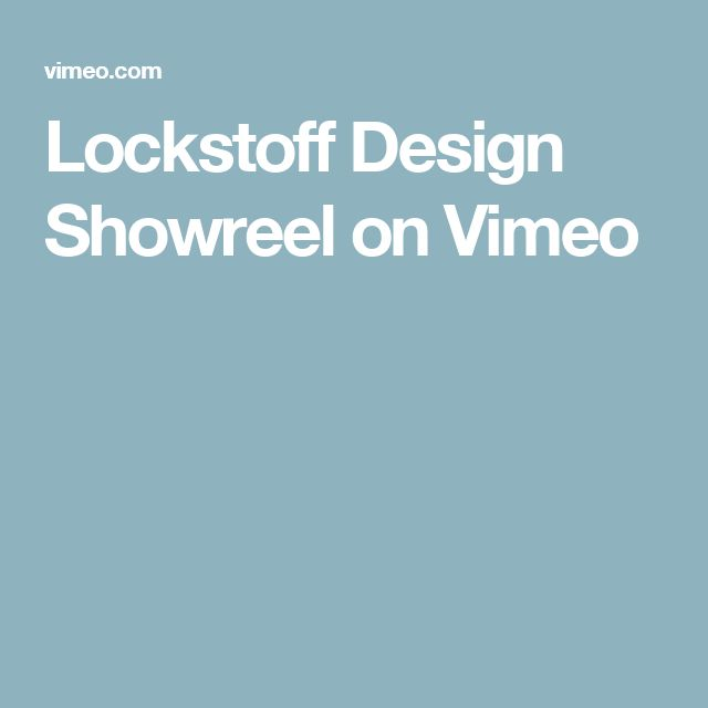 Lockstoff Design Showreel on Vimeo