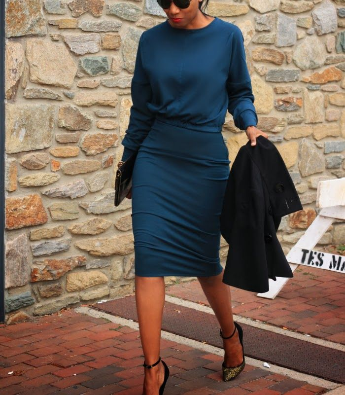 Beaute' J'adore: DIY High Waisted Midi Pencil Skirt (ponte knit fabric)