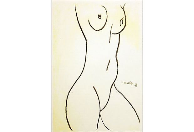 Matisse, Profil d'une Femme. One of the most influential figures of modern art, Henri Matisse was a virtuoso of multiple media and styles. He was the principal founder of Fauvism and, throughout his career, used bold, expressive color that often gives his works a rich surface design. He was also a masterful draftsman, with enchantingly fluid, confident lines. Educated and trained in Paris, Matisse spent most of his life in the South of France.
