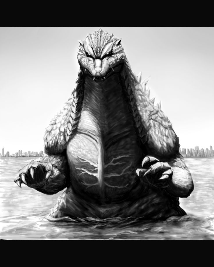 #Godzilla #Fan #Art. By: MATT FRANK.