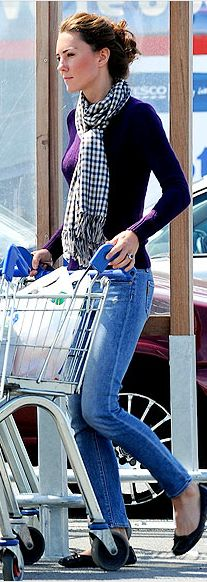 Kate Middleton...she ALWAYS looks great, even in every day clothes !  i want to raid her closet.