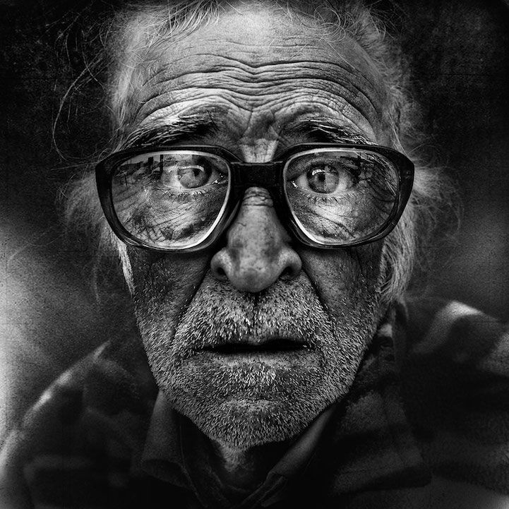 Lee Jeffries documents the expressive faces of homeless people in powerfully…