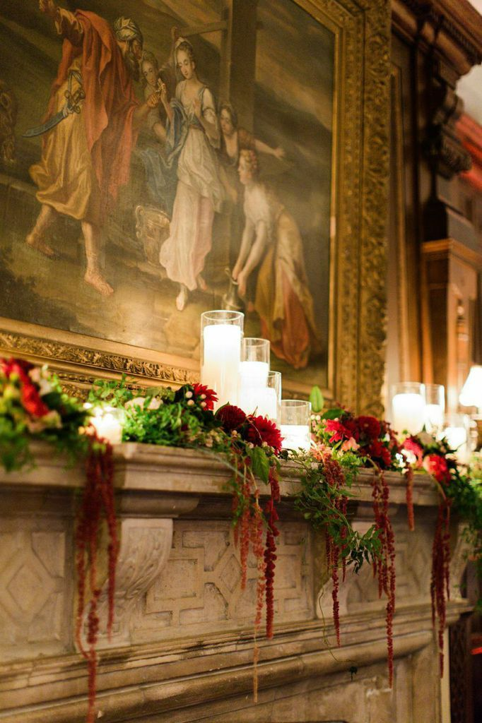 Cranberry and Gold New York Wedding at NYIT de Seversky Mansion from CLY by Matthew - wedding reception idea