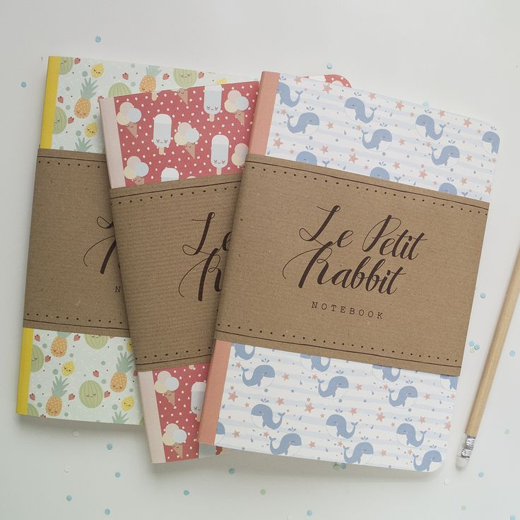 Set di 3 notebooks- Summer limited edition / Lepetitrabbit