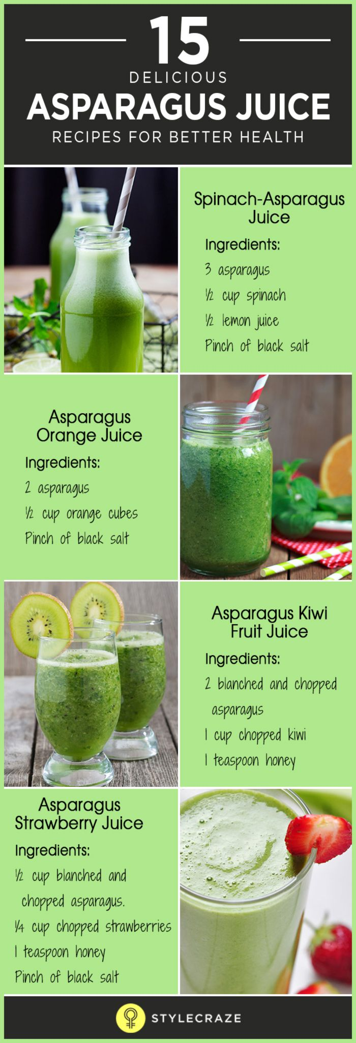 Bored of eating asparagus the same way—grilled, sauteed or blanched? Try juicing asparagus! I know it sounds bizaerre but juicing asparagus is the best way to reap its health benefits. I am not one of those who enjoys having food that is bland or leaves a bad taste in the mouth.
