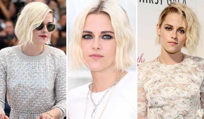 Il biondo platino, tra i colori di capelli di tendenza del 2017, è amatissimo dalle star di tutto il mondo. Una di queste è Kristen Stewart, da sempre mora, che lo sfoggia in modo glam rock con un bob alla pari
