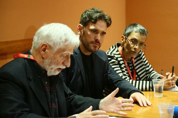 Matt Dillon (R) attends a press conference during the 11th Rome Film Festival at Auditorium Parco Della Musica on October 18, 2016 in Rome, Italy.