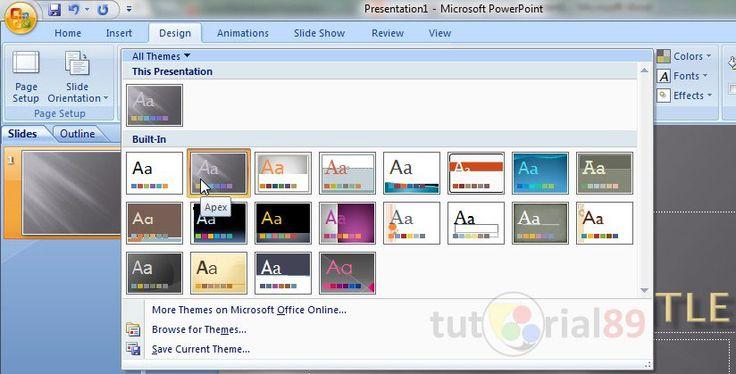 Cara mudah membuat presentasi di Microsoft PowerPoint   Tutorial 89