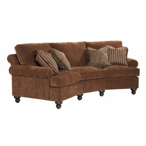 Kincaid Furniture Regency  Conversation Sofa with Decorative Throw Pillows