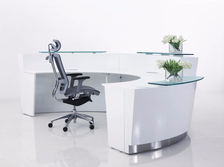 Evol office reception counter desks by Endo Office Furniture Melbourne feature a large sweeping arc, this can be extended to either 2 piece or 3 piece unit.  The Evol also features elegant glass counters, and all panels are finished with 2 pack gloss white paint and also feature stainless steel skirting on the front to help reduce the appearance of any scuffing.  http://www.endoofficefurniture.com.au/products/office-reception-desks/evol-reception-counter