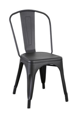 Matt Black Replica Tolix Chair High Back